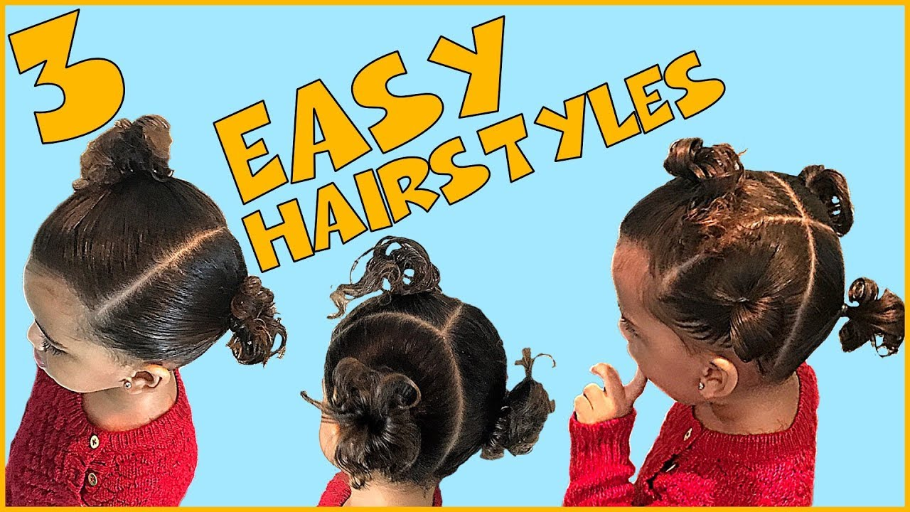 Three Easy Ponytail Hairstyles for Curly Hair Biracial Toddler with Short  Hair