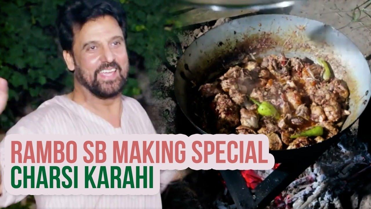 Special Charsi Karahi   Jan Rambo Making Your Favourite Peshawari Special Charsi Chicken Karahi  