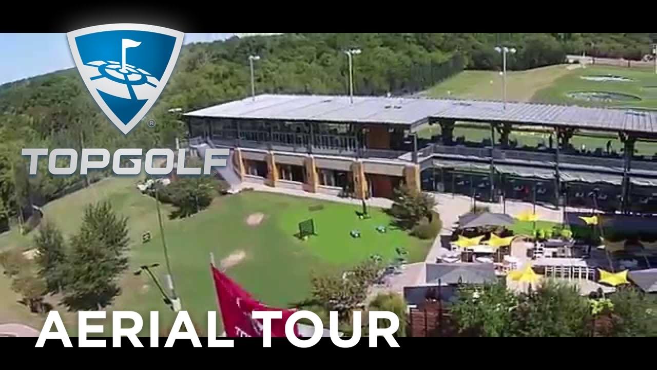 Aerial Drone Footage Of Topgolf Dallas