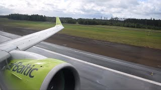 ✈ Air Baltic CS300/A220 Onboard Low Go Around at Riga Airport!