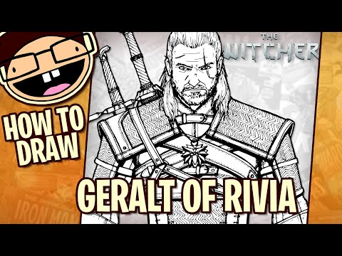 How To Draw GERALT OF RIVIA (The Witcher) | Narrated Step-by-Step Tutorial