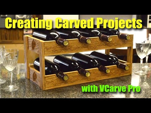 Creating Carved Projects Using CNC with VCarve Pro