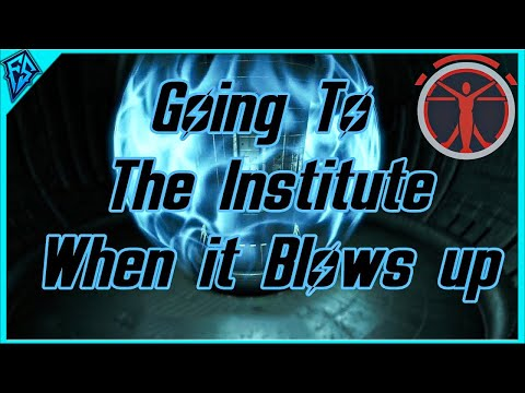 Fallout 4 Quickie | Going to The Institute as it blows up | What Happens?