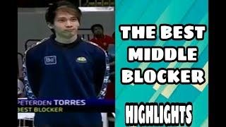 THROWBACK. PETER TORRES THE BEST MIDDLE BLOCKER ( HIGHLIGHTS )
