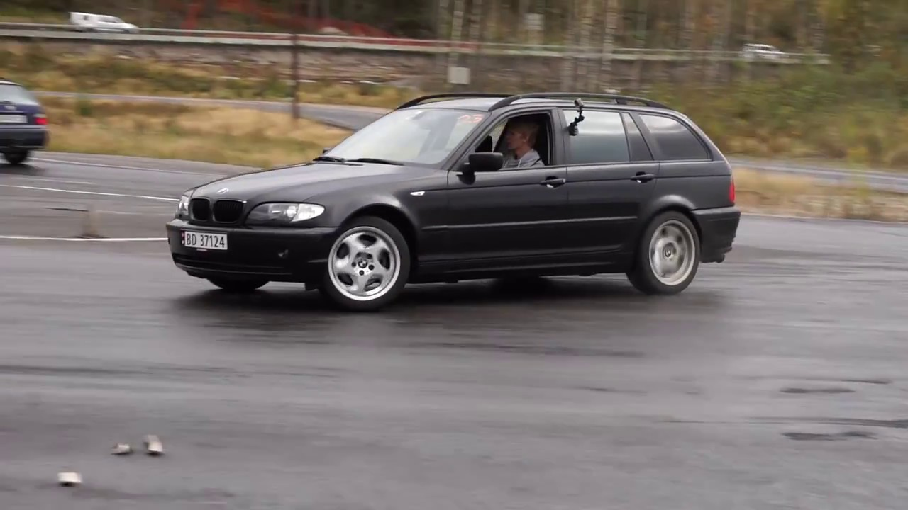 Drift Event With Turbo Diesel Bmw E46