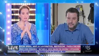 Salvini e Barbara d'Urso PREGANO in TV