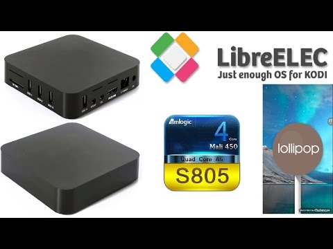 MXQ AMLOGIC S805 ANDROID TV BOX RUNNING LOLLIPOP 5 1 1 - YouTube