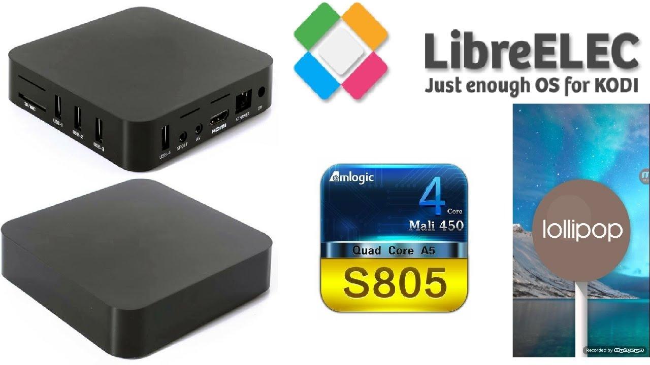 MXQ AMLOGIC S805 ANDROID TV BOX RUNNING LOLLIPOP 5 1 1