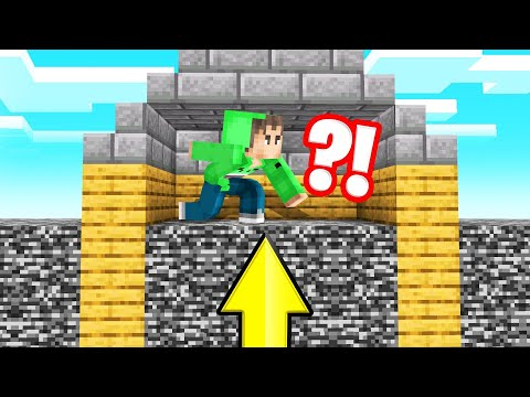 Minecraft But BEDROCK RISES Every MINUTE! (Intense)