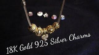 Adorable DIY 18K Gold & 925 Silver Pandora Charms