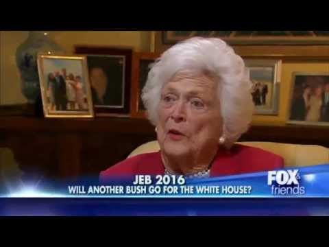 Barbara Bush talks about George W. and Jeb 2016