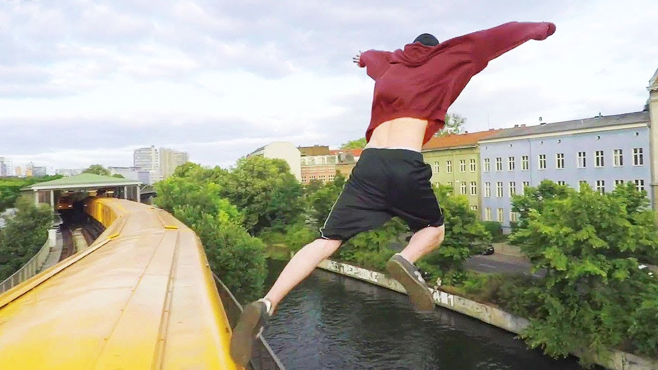 Man In Berlin Jumps Off A MOVING Train!