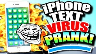 iPhone Text Message VIRUS PRANK to FREAK OUT Your Friends (Secret iPhone Trick!) iOS 10 - 2016