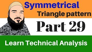 What is symmetrical triangle pattern !!! technical analysis course