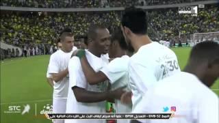 كلمة فارس عوض بمناسبة اليوم الوطني السعودي في مباراة الاهلي و الاتحاد في الجولة 4 من دوري جميل