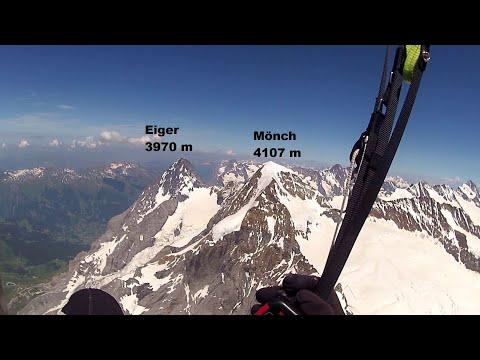Paragliding Over Jungfrau, Mönch, Eiger & Interlaken