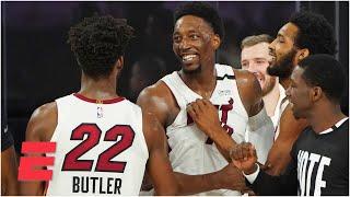 Reacting to Bam Adebayo blocking Jayson Tatum to seal the Heat's Game 1 win vs. the Celtics | KJZ