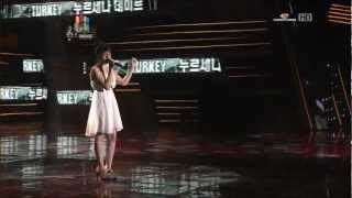 2012 K-Pop World Festival TURKEY - Nursena Demir (We Were in Love) Performance