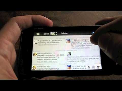 TwimGo running on Nokia N900 and Qt Web Runtime
