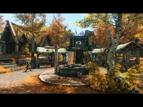 Skyrim Ambience - Whiterun/Fantasy Town/D&D White Noise (Relaxation/ASMR)