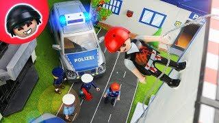 Kevin bricht 4x aus dem Gefängnis aus! Playmobil Polizei Film - KARLCHEN KNACK #144