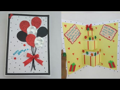 Diy Birthday Card For Sister How To Make Birthday Popup Card