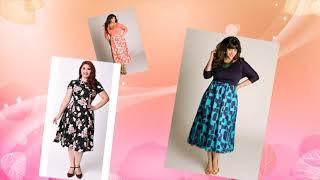 Приталенные красивые платья для полных дам
