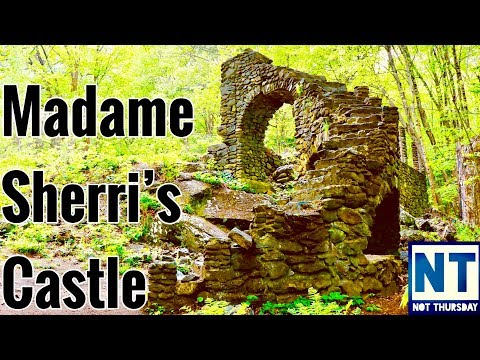 Madame Sherri's castle ruins Chesterfield NH - Haunted ? Not Thursday #11 Vlog Chesterfield Gorge