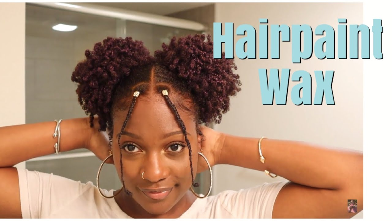 Cute Natural Hairstyles Ft Hairpaint Wax Two Puff Ball Tutorial