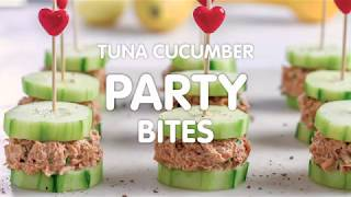 Tuna Cucumber Party Bites
