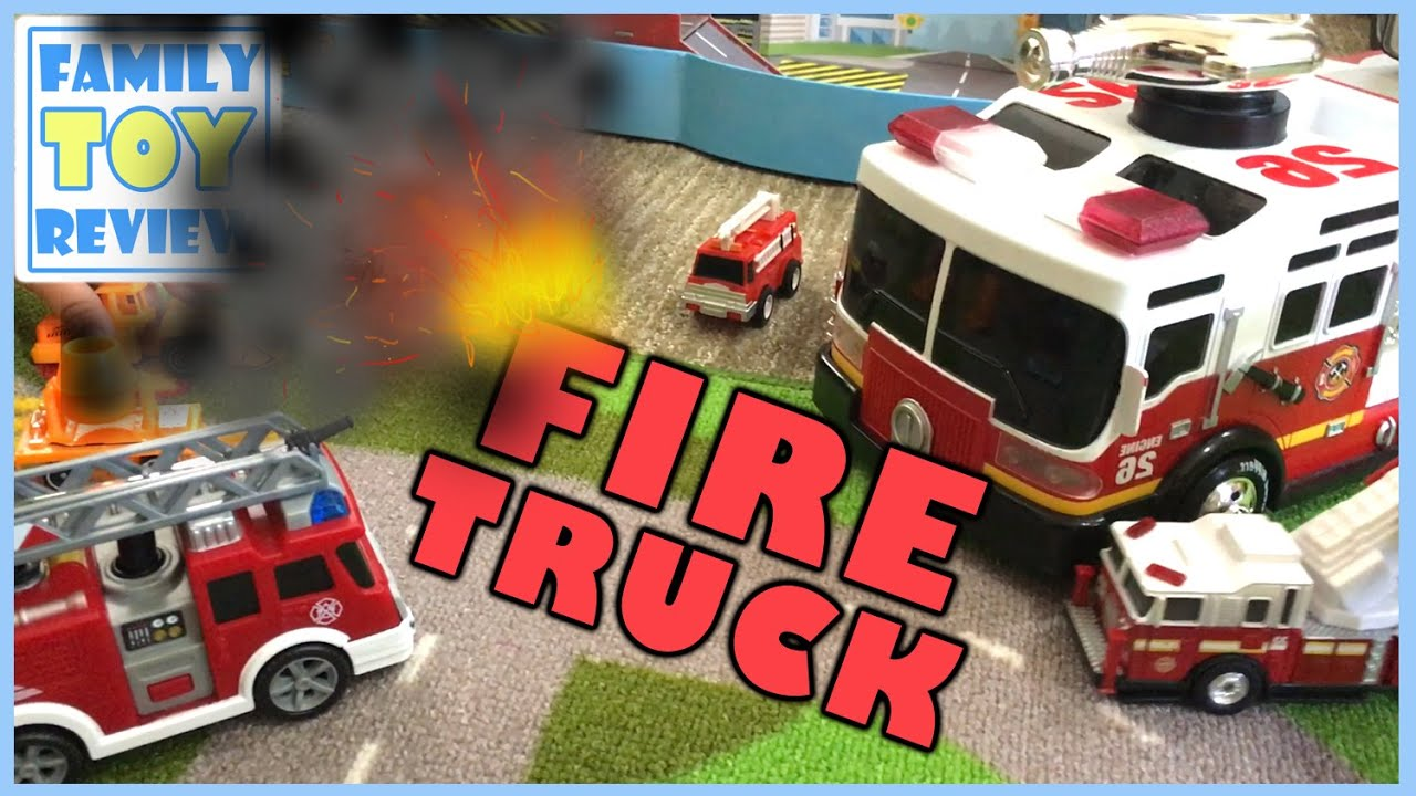 Toy Trucks - FIRE TRUCKS For Kids - FAST LANE Fire Truck Shoots Water - Fire Engine Toys Collection & Toy Trucks - FIRE TRUCKS For Kids - FAST LANE Fire Truck Shoots Water - Fire Engine Toys Collection