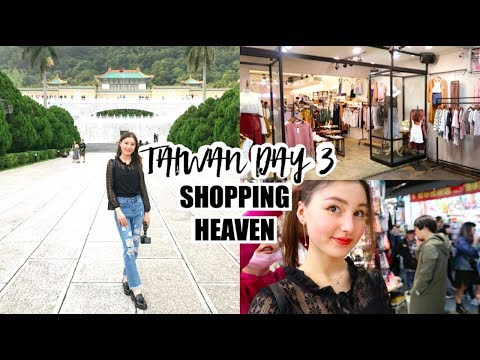 Taiwan Trip Day 3⎮Cheap shopping, Shilin Night Market, Taipei City Mall & Palace Museum