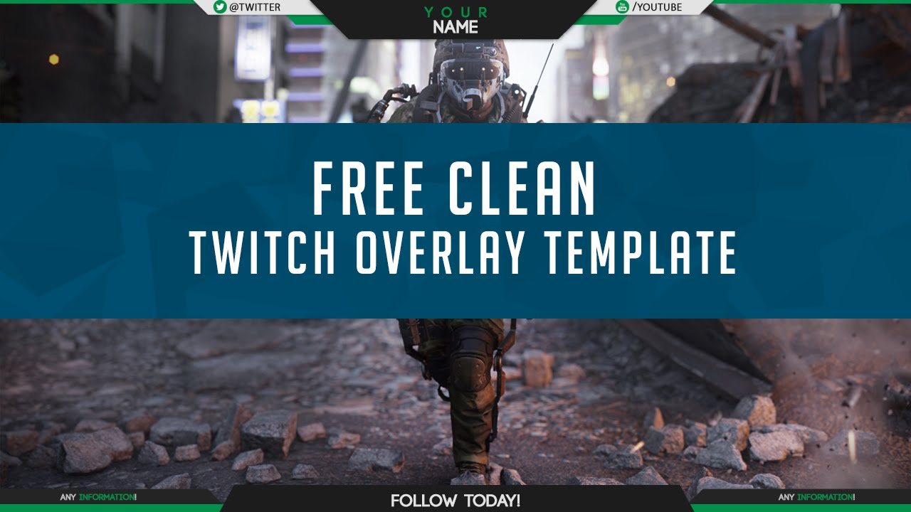 Free Twitch Overlay Template PSD Free GFX YouTube