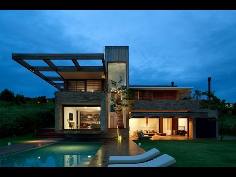 contemporary house design with ideas totally integration between architecture and terrain - Contemporary House Ideas