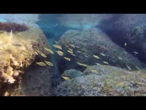 Cala Spinosa:  Santa Teresa di Gallura (Sardegna ) Capo Testa - GOPRO HERO 2014  - Snorkeling