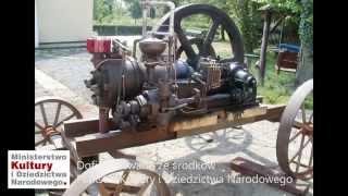 Silnik Körtinga wyprodukowany w Stoczni Gdańskiej w zbiorach Muzeum Rolnictwa w Ciechanowcu