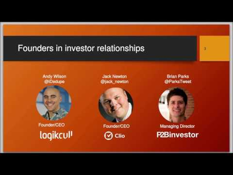 The Founder Investor Relationship: Crafting a Partnership that Works