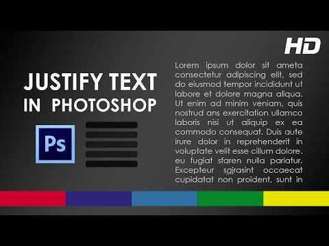 How To Justify Text In Photoshop - Video Tutorial For Beginners