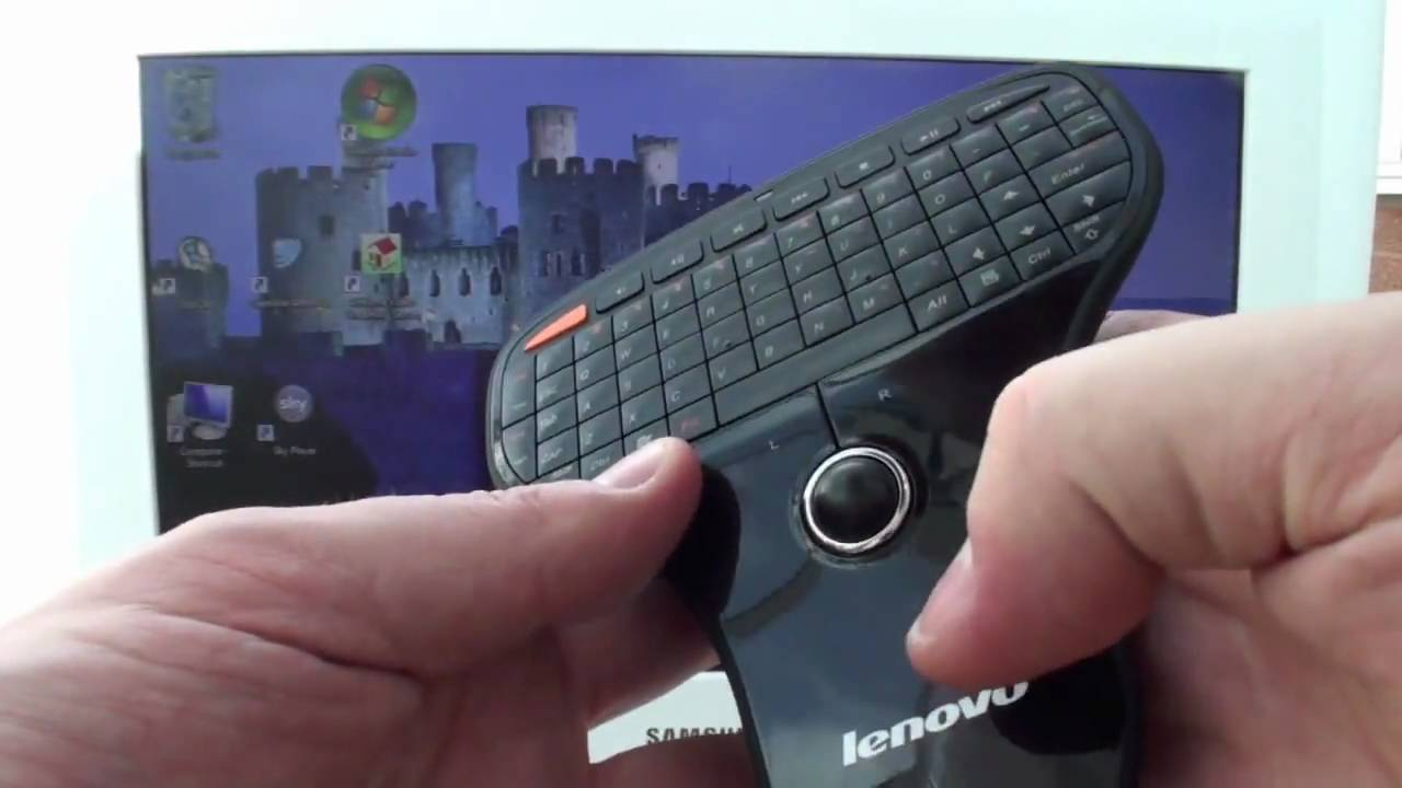 9b1245bd18a Lenovo N5901 Wireless Mini Remote Keyboard & Trackball Review - YouTube