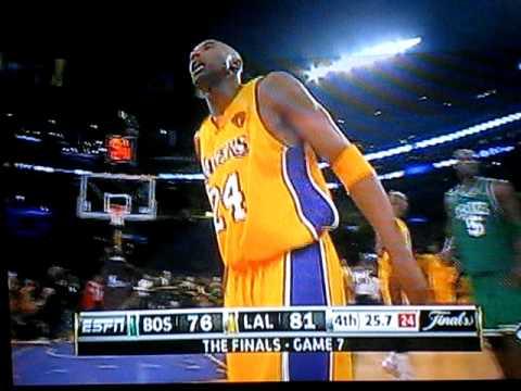 Last mins of Epic Game #7 Lakers vs Celtics