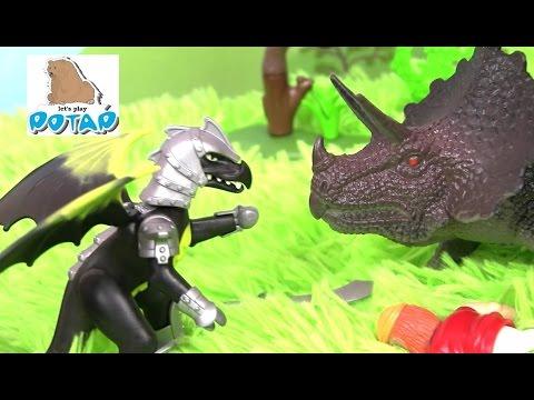 Разбойники против Драконов! Игрушки для Мальчиков Playmobil Dragons Мультик про Динозавров