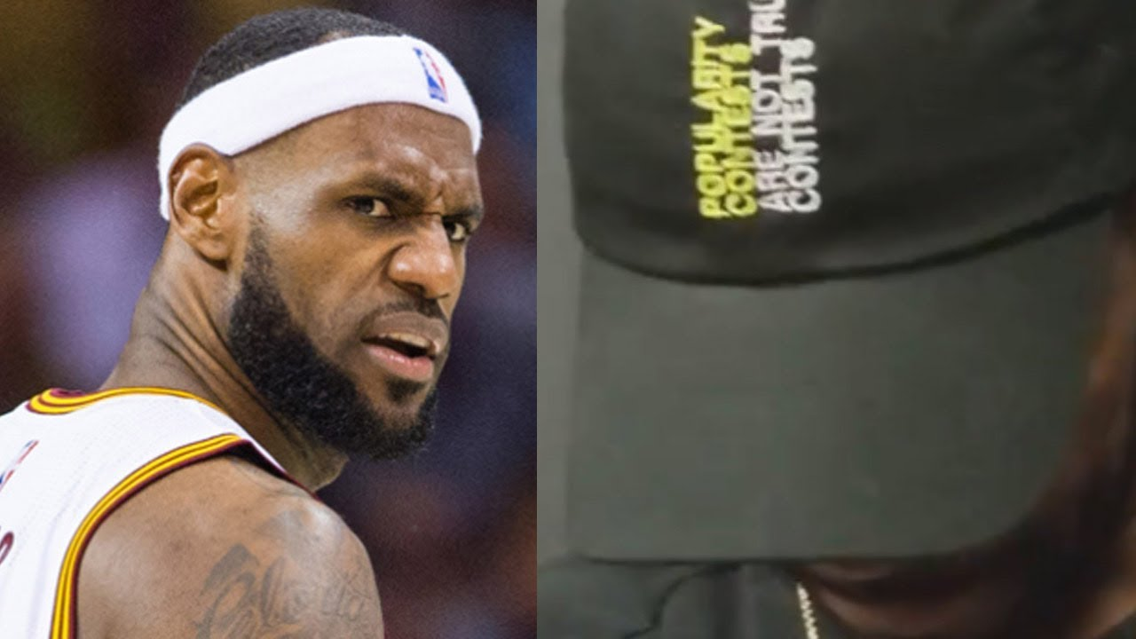 0570d06223f54 Kyrie Irving SNEAK DISSES LeBron James with a Hat - YouTube