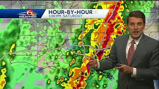 Be weather aware Saturday for severe storm potential