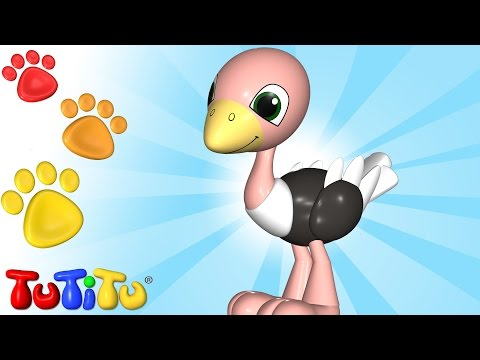 TuTiTu Animals | Animal Toys for Children | Ostrich and Other Animals