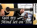 How To Play Got My Mind Set On You George Harrison Guitar Tutorial mp3