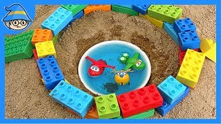 Superwings fall into well by witch. Duplo construction. | Shim