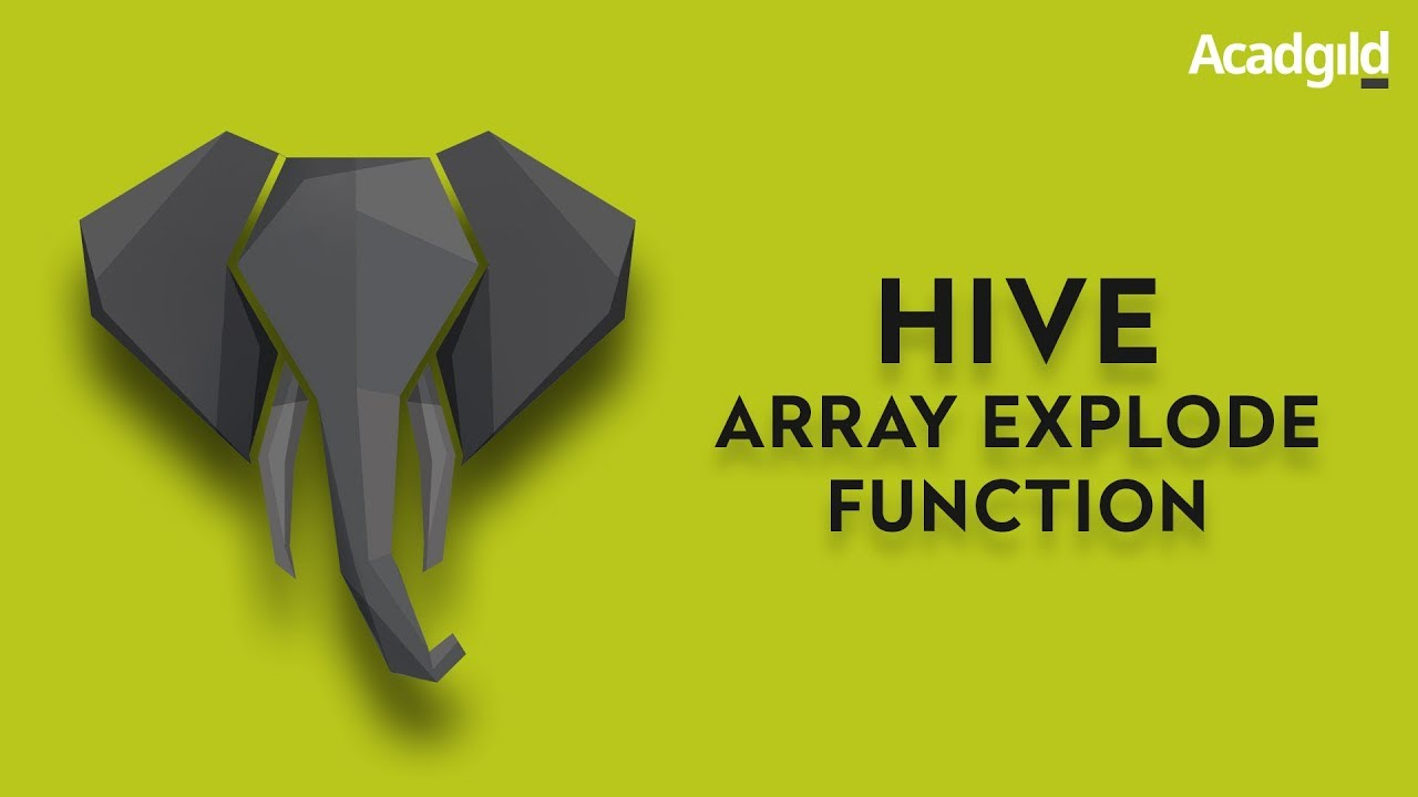 Hive Array Explode Function | Hive Array Function Tutorial | Hive Tutorial  | Big Data Tutorial