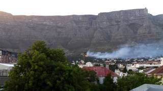 Helicopters battling Table Mountain fire