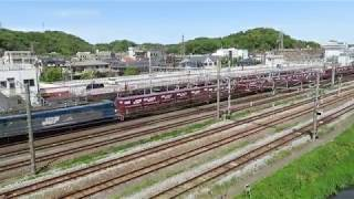 JR貨物・EF210形山崎跨線橋GW中(Japan Freight Railway)