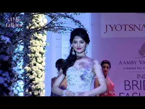 Jacqueline Fernandez, Urvashi Rautela Walk For Jyotsna Tiwari At India Bridal Fashion Week 2013.